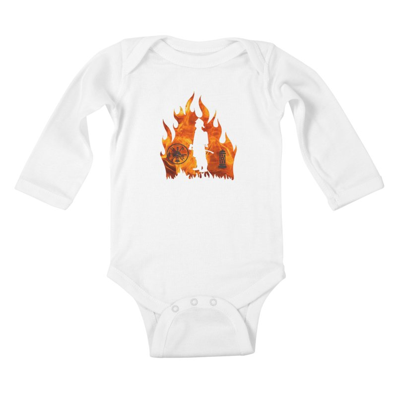 Firefighters 5K & 10K Kids Baby Longsleeve Bodysuit by moonjoggers's Artist Shop