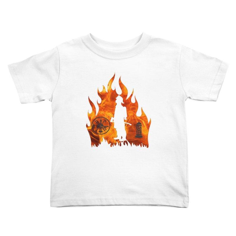Firefighters 5K & 10K Kids Toddler T-Shirt by moonjoggers's Artist Shop