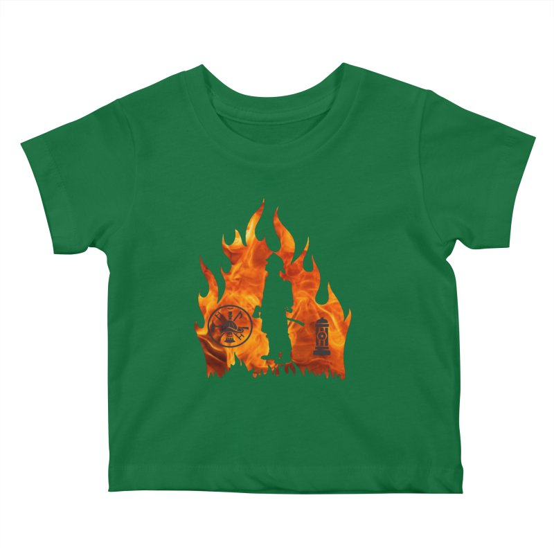 Firefighters 5K & 10K Kids Baby T-Shirt by moonjoggers's Artist Shop