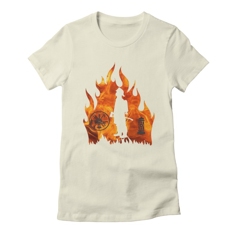Firefighters 5K & 10K Women's Fitted T-Shirt by moonjoggers's Artist Shop