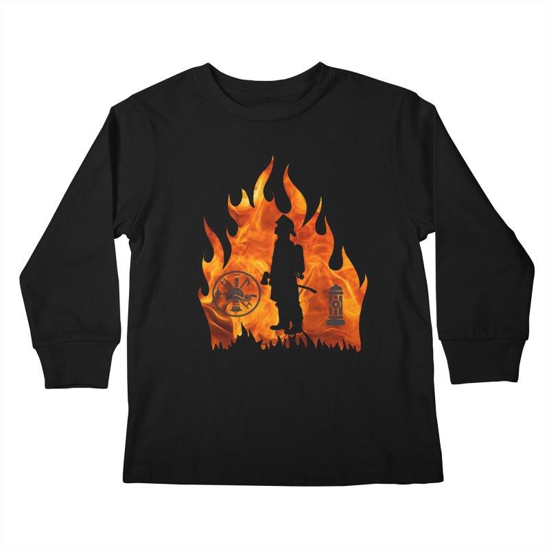 Firefighters 5K & 10K Kids Longsleeve T-Shirt by moonjoggers's Artist Shop