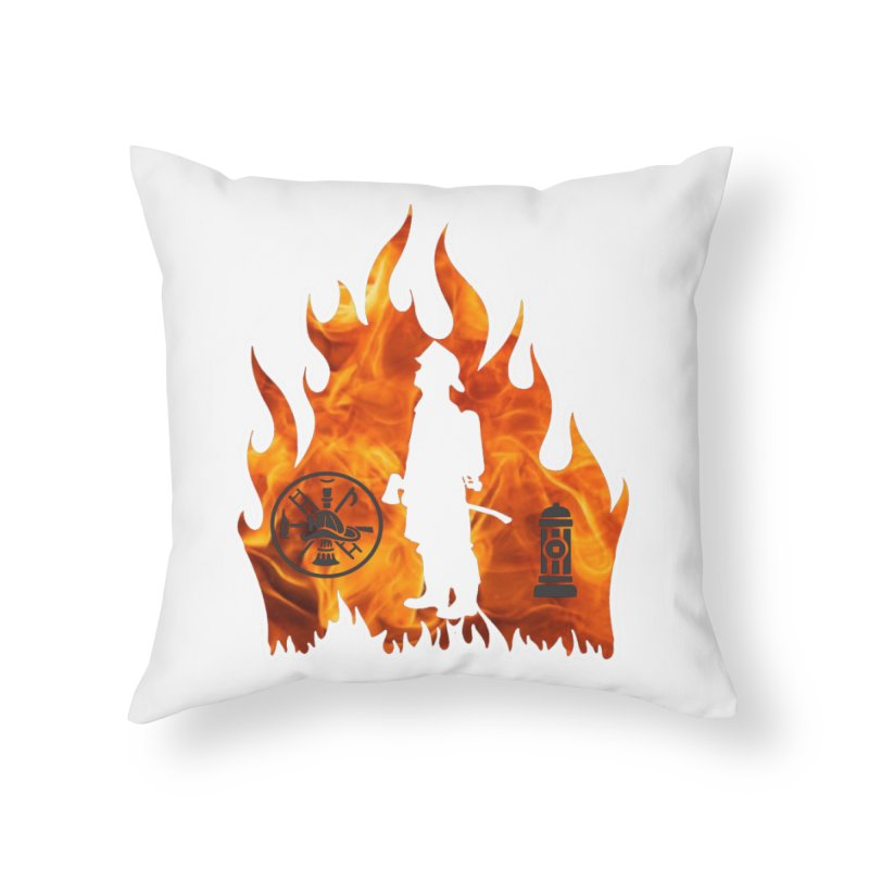 Firefighters 5K & 10K Home Throw Pillow by moonjoggers's Artist Shop