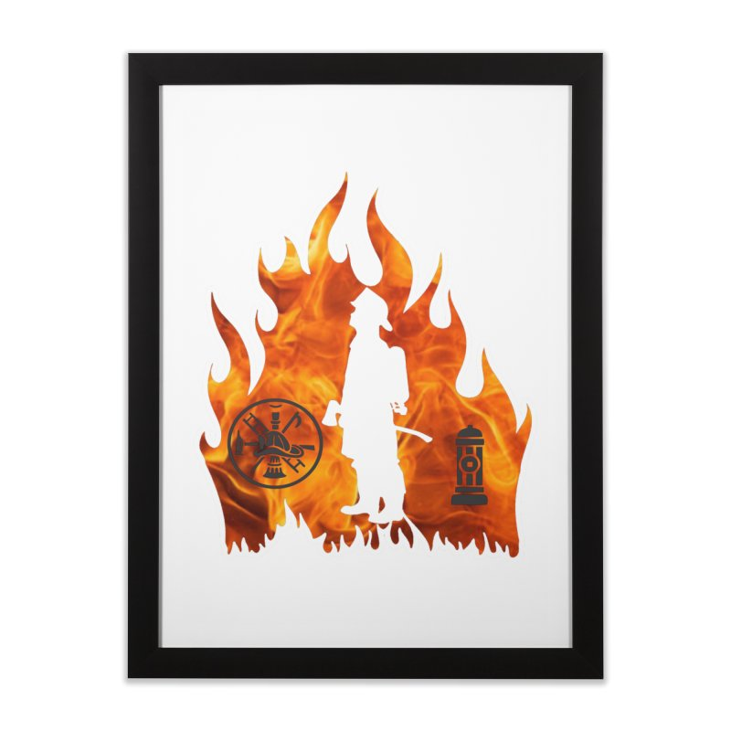 Firefighters 5K & 10K Home Framed Fine Art Print by moonjoggers's Artist Shop
