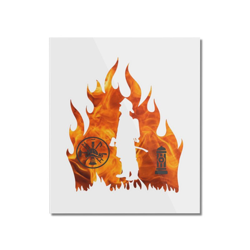 Firefighters 5K & 10K Home Mounted Acrylic Print by moonjoggers's Artist Shop