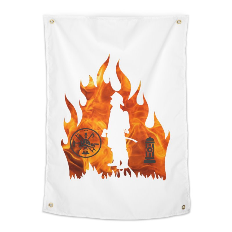 Firefighters 5K & 10K Home Tapestry by moonjoggers's Artist Shop