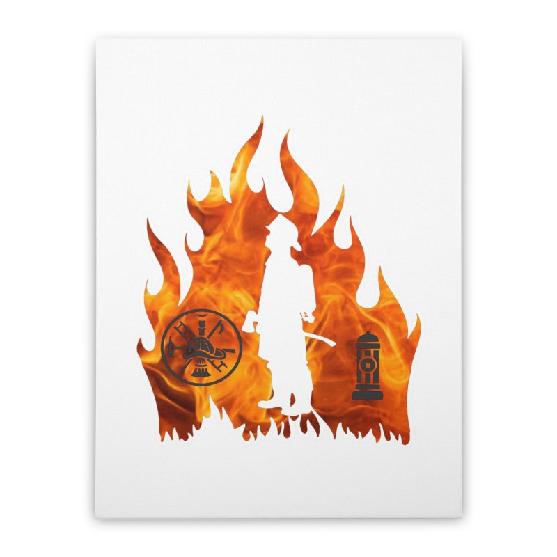 Firefighters 5K & 10K Home Stretched Canvas by moonjoggers's Artist Shop
