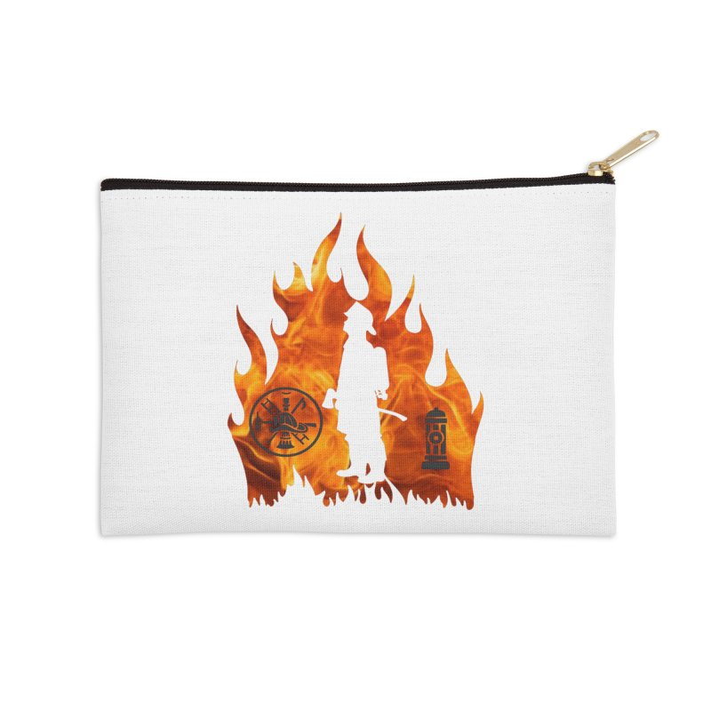 Firefighters 5K & 10K Accessories Zip Pouch by moonjoggers's Artist Shop