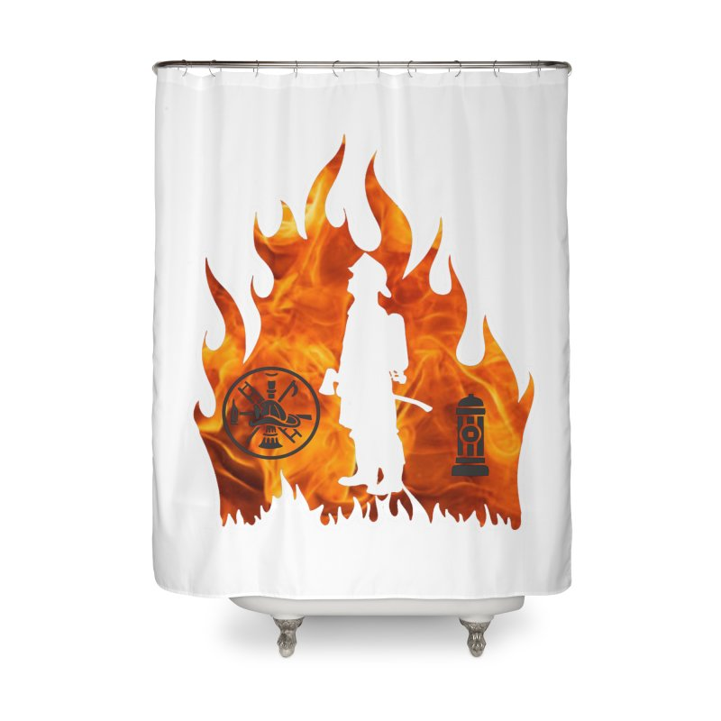 Firefighters 5K & 10K Home Shower Curtain by moonjoggers's Artist Shop