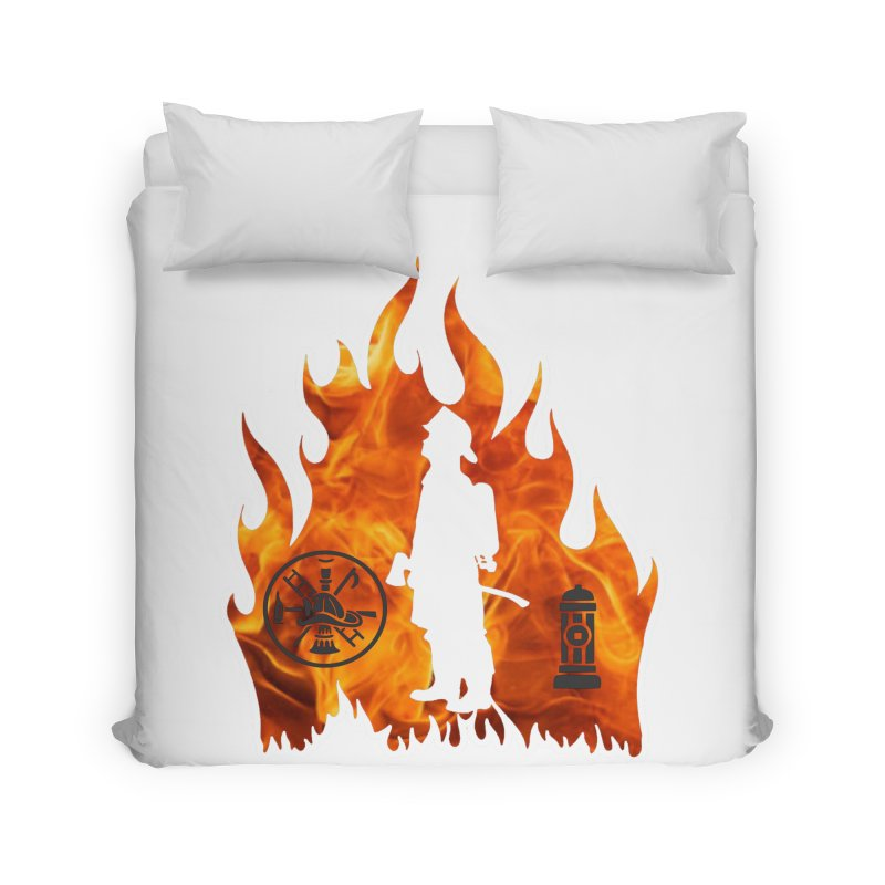 Firefighters 5K & 10K Home Duvet by moonjoggers's Artist Shop