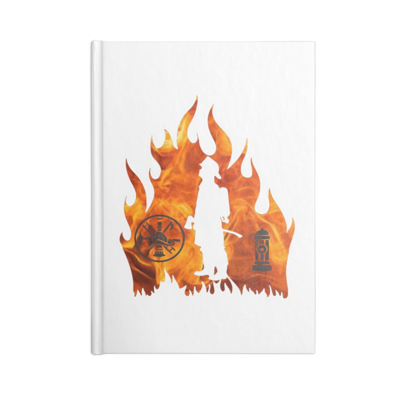 Firefighters 5K & 10K Accessories Notebook by moonjoggers's Artist Shop