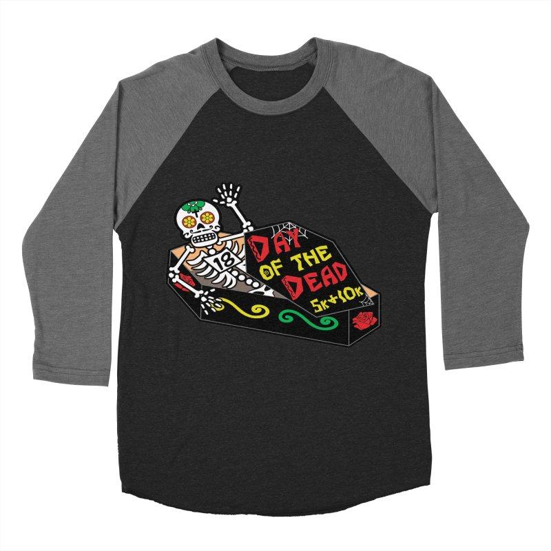 Day of the Dead 5K & 10K Men's Baseball Triblend T-Shirt by moonjoggers's Artist Shop