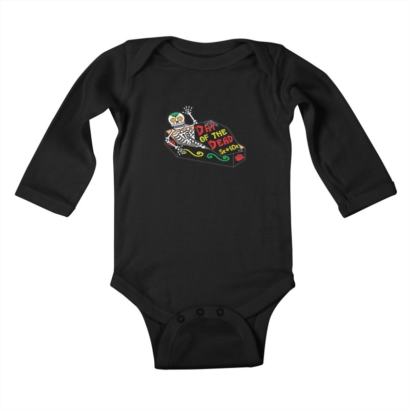 Day of the Dead 5K & 10K Kids Baby Longsleeve Bodysuit by moonjoggers's Artist Shop
