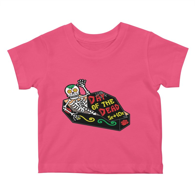 Day of the Dead 5K & 10K Kids Baby T-Shirt by moonjoggers's Artist Shop