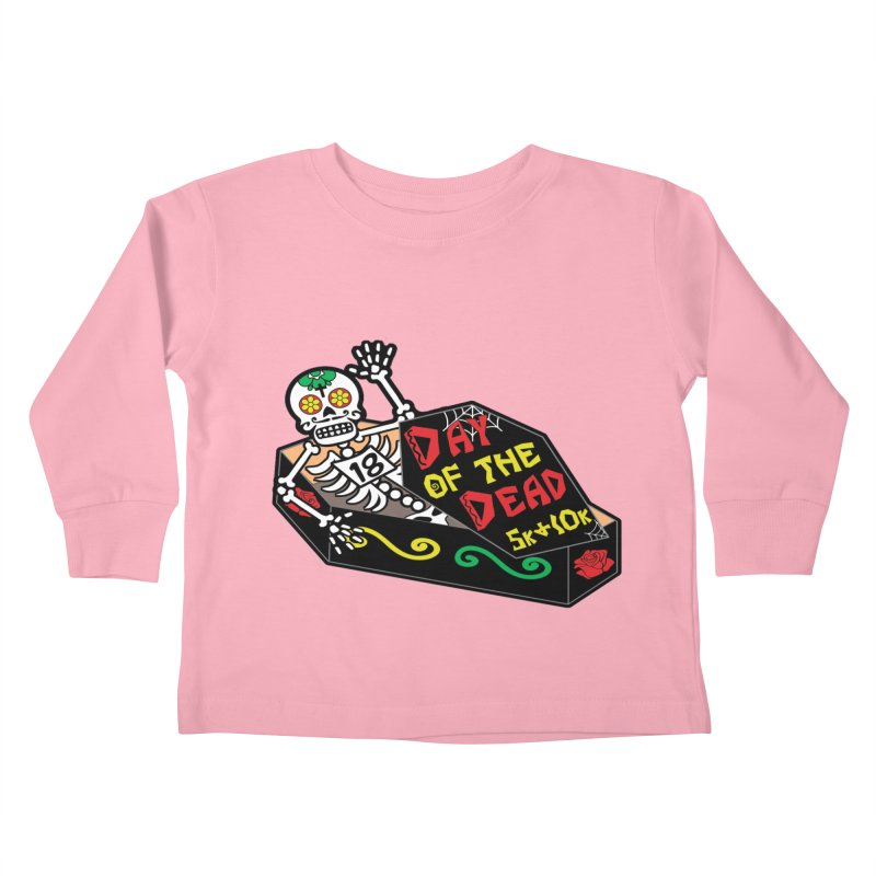 Day of the Dead 5K & 10K Kids Toddler Longsleeve T-Shirt by moonjoggers's Artist Shop