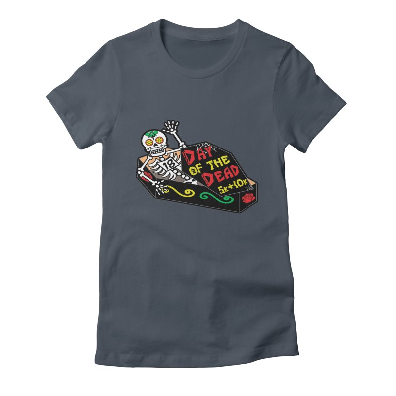 Day of the Dead 5K & 10K Women's Fitted T-Shirt by moonjoggers's Artist Shop