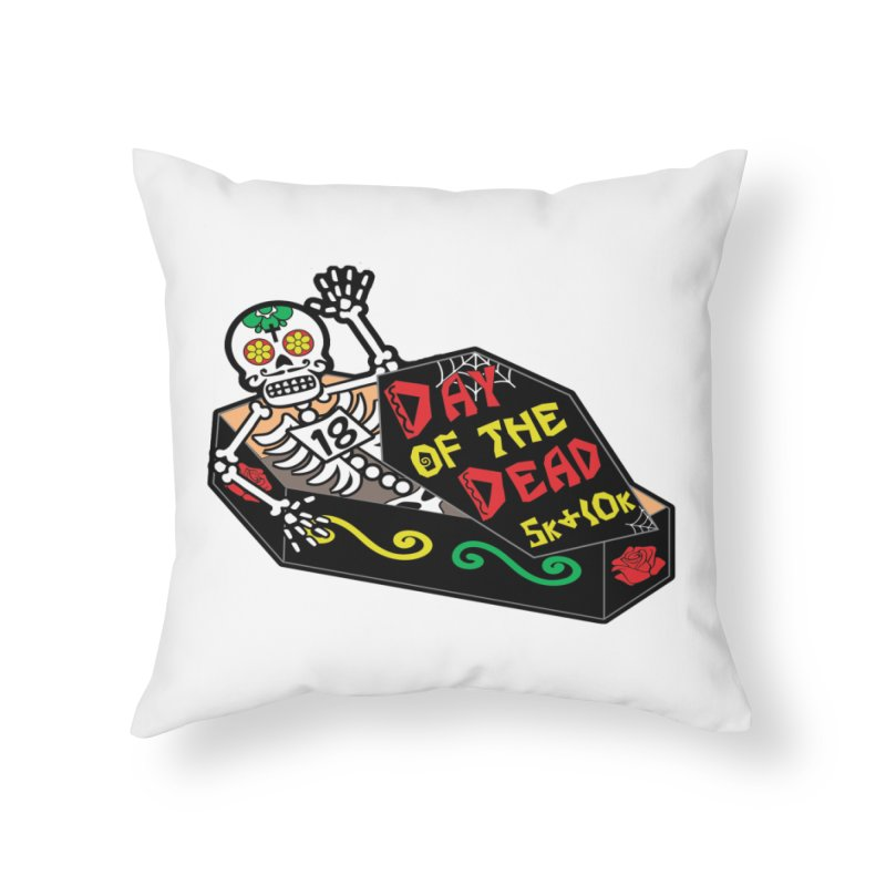 Day of the Dead 5K & 10K Home Throw Pillow by moonjoggers's Artist Shop