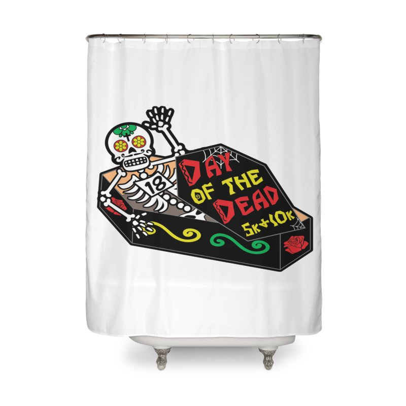 Day of the Dead 5K & 10K Home Shower Curtain by moonjoggers's Artist Shop