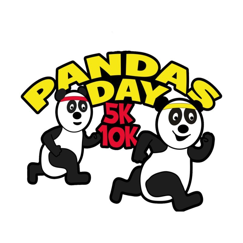 Pandas Day 5K & 10K Home Throw Pillow by moonjoggers's Artist Shop