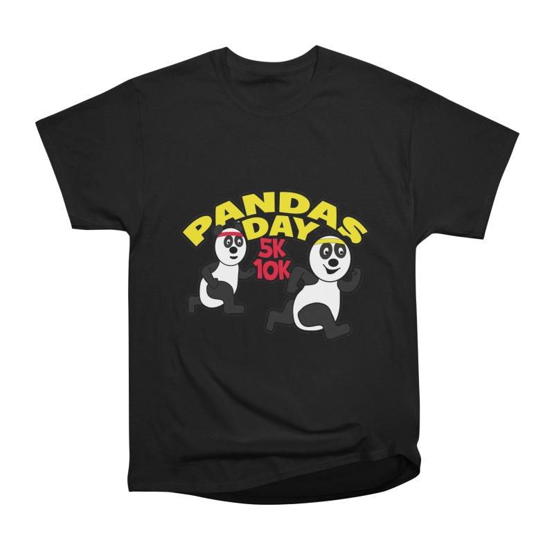 Pandas Day 5K & 10K Women's Heavyweight Unisex T-Shirt by moonjoggers's Artist Shop