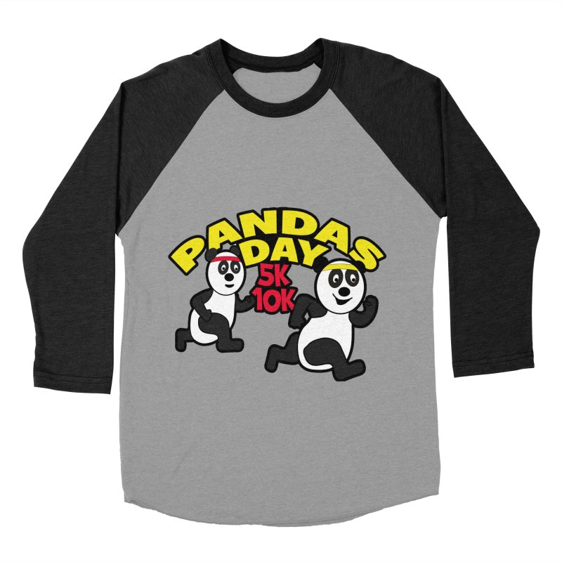 Pandas Day 5K & 10K Men's Baseball Triblend T-Shirt by moonjoggers's Artist Shop
