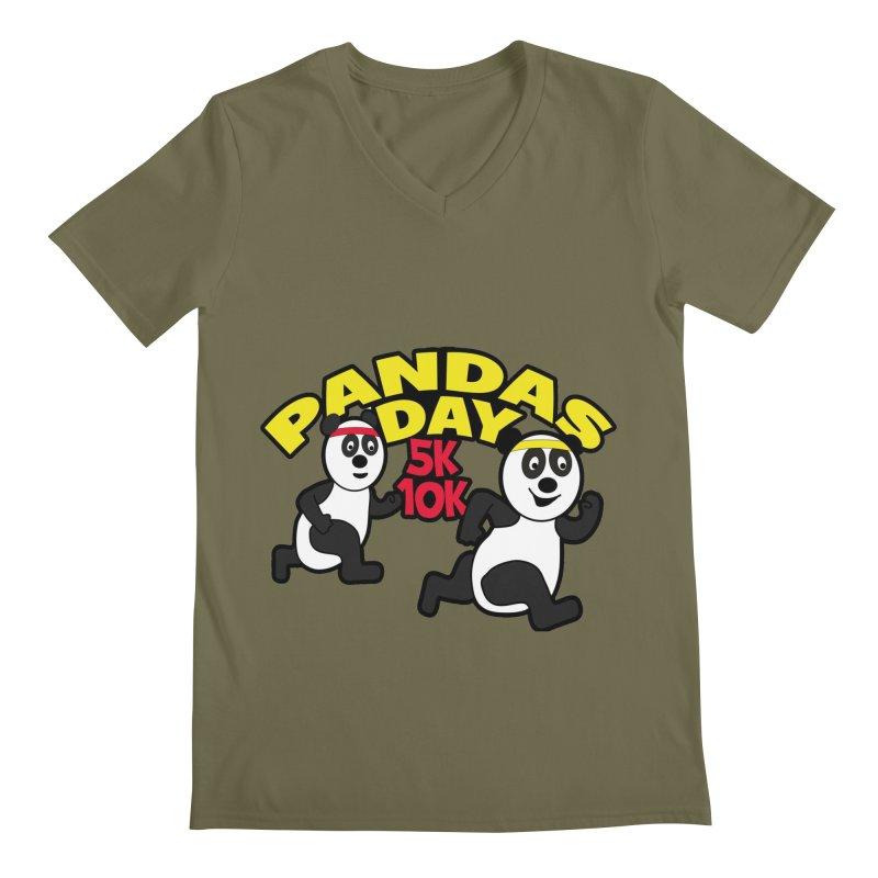 Pandas Day 5K & 10K Men's V-Neck by moonjoggers's Artist Shop