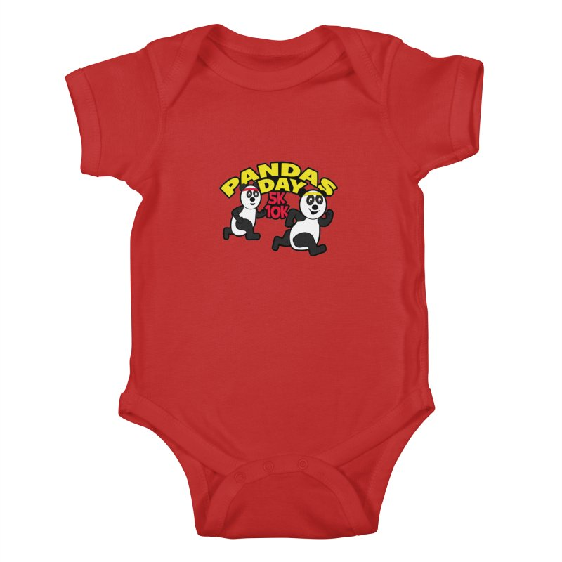 Pandas Day 5K & 10K Kids Baby Bodysuit by moonjoggers's Artist Shop