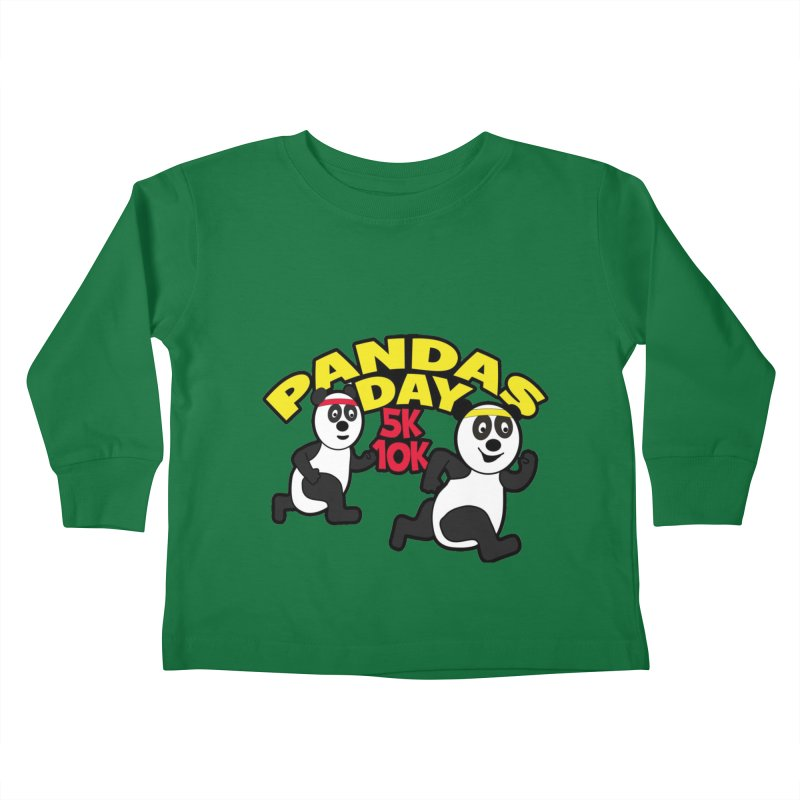 Pandas Day 5K & 10K Kids Toddler Longsleeve T-Shirt by moonjoggers's Artist Shop