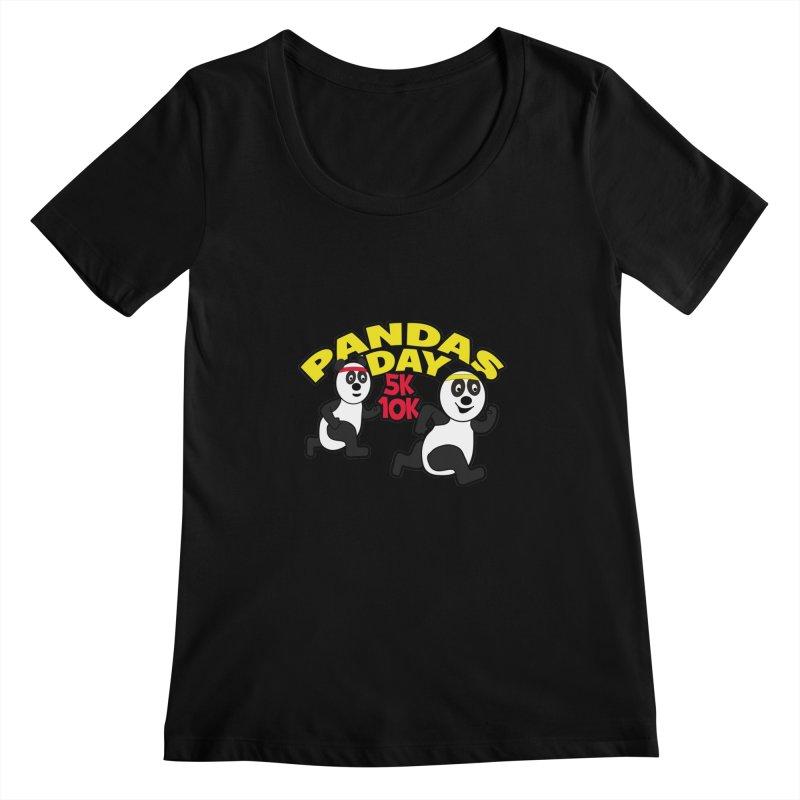 Pandas Day 5K & 10K Women's Scoopneck by moonjoggers's Artist Shop