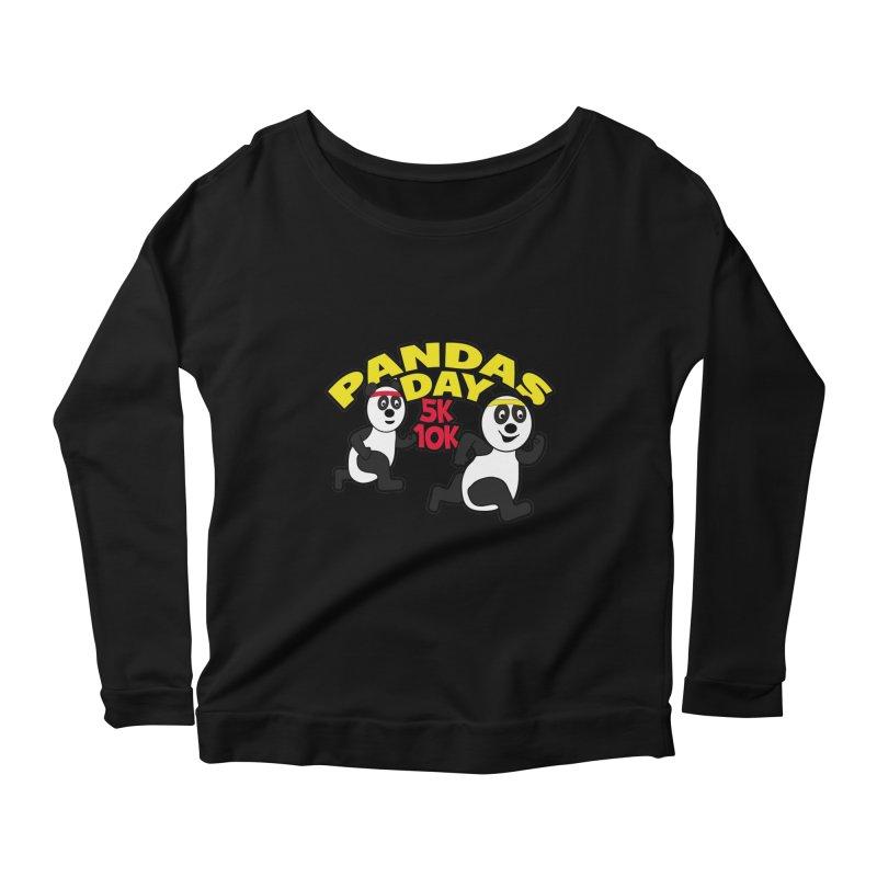 Pandas Day 5K & 10K Women's Longsleeve Scoopneck  by moonjoggers's Artist Shop