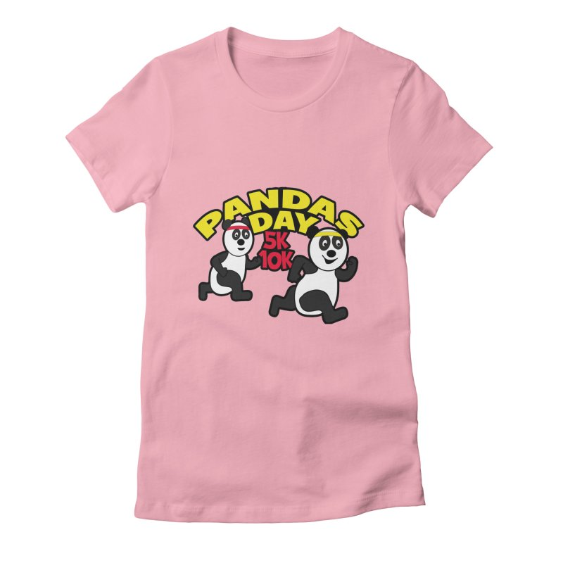 Pandas Day 5K & 10K Women's Fitted T-Shirt by moonjoggers's Artist Shop