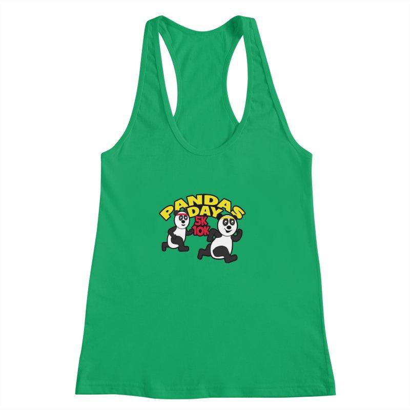 Pandas Day 5K & 10K Women's Racerback Tank by moonjoggers's Artist Shop