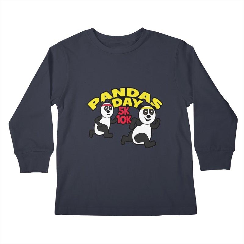 Pandas Day 5K & 10K Kids Longsleeve T-Shirt by moonjoggers's Artist Shop