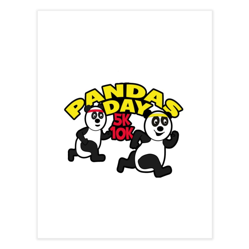 Pandas Day 5K & 10K Home Fine Art Print by moonjoggers's Artist Shop