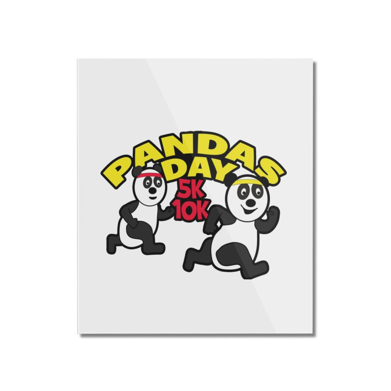 Pandas Day 5K & 10K Home Mounted Acrylic Print by moonjoggers's Artist Shop