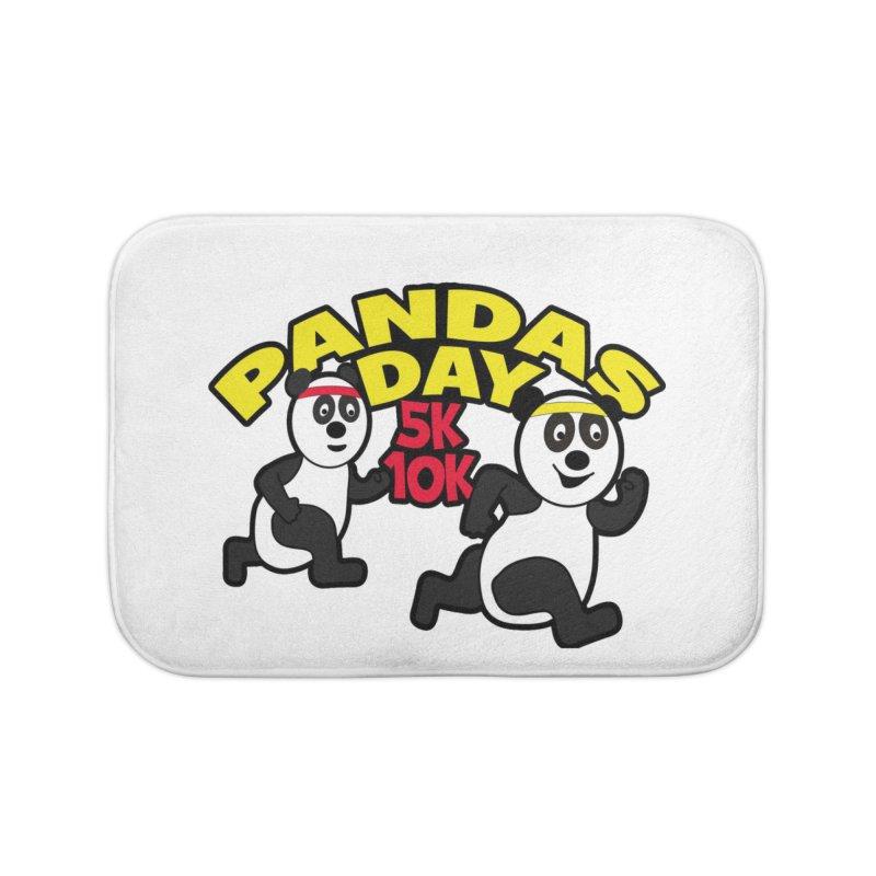 Pandas Day 5K & 10K Home Bath Mat by moonjoggers's Artist Shop