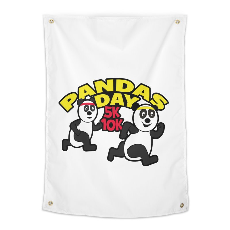 Pandas Day 5K & 10K Home Tapestry by moonjoggers's Artist Shop