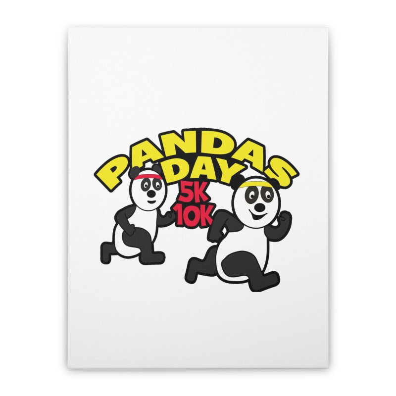 Pandas Day 5K & 10K Home Stretched Canvas by moonjoggers's Artist Shop