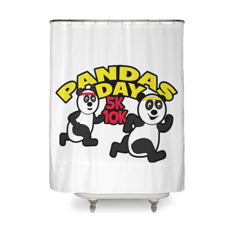 Pandas Day 5K & 10K Home Shower Curtain by moonjoggers's Artist Shop