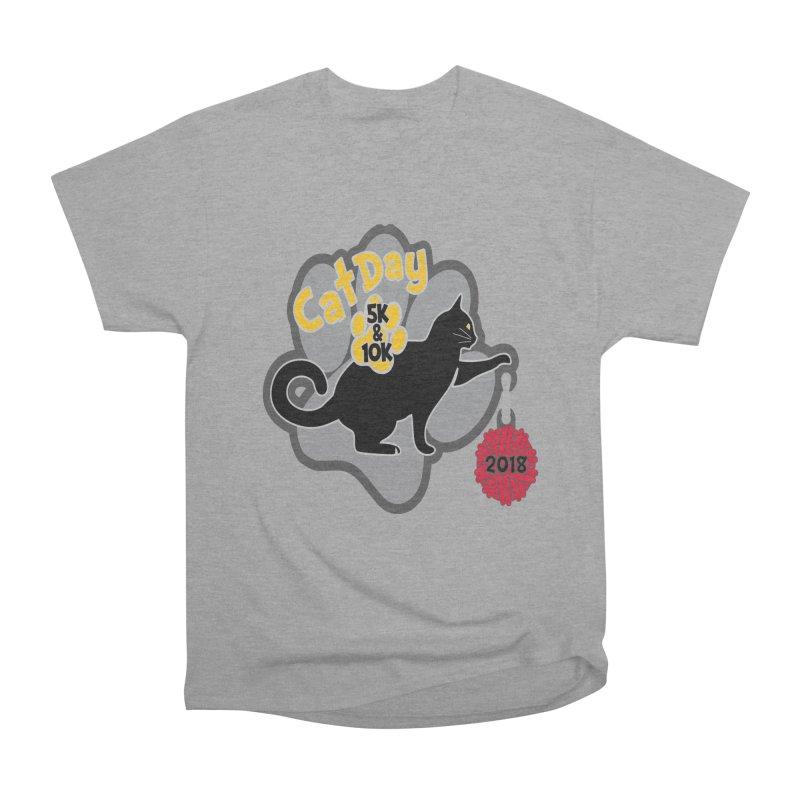 Cat Day 5K & 10K Men's Heavyweight T-Shirt by moonjoggers's Artist Shop
