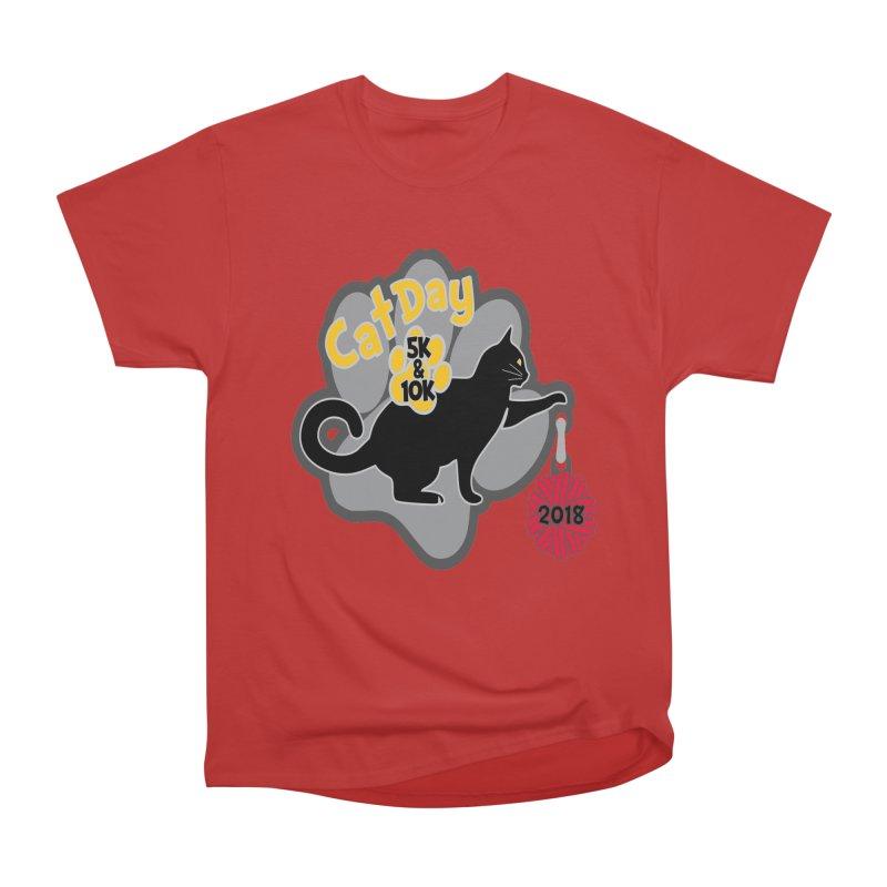 Cat Day 5K & 10K Women's Heavyweight Unisex T-Shirt by moonjoggers's Artist Shop