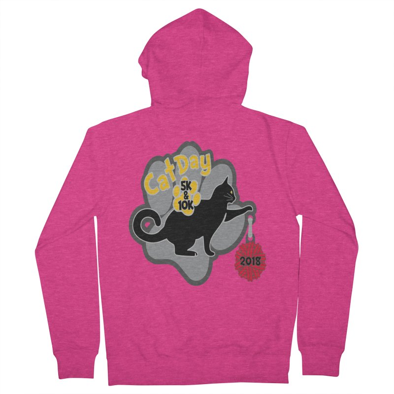 Cat Day 5K & 10K Women's French Terry Zip-Up Hoody by moonjoggers's Artist Shop