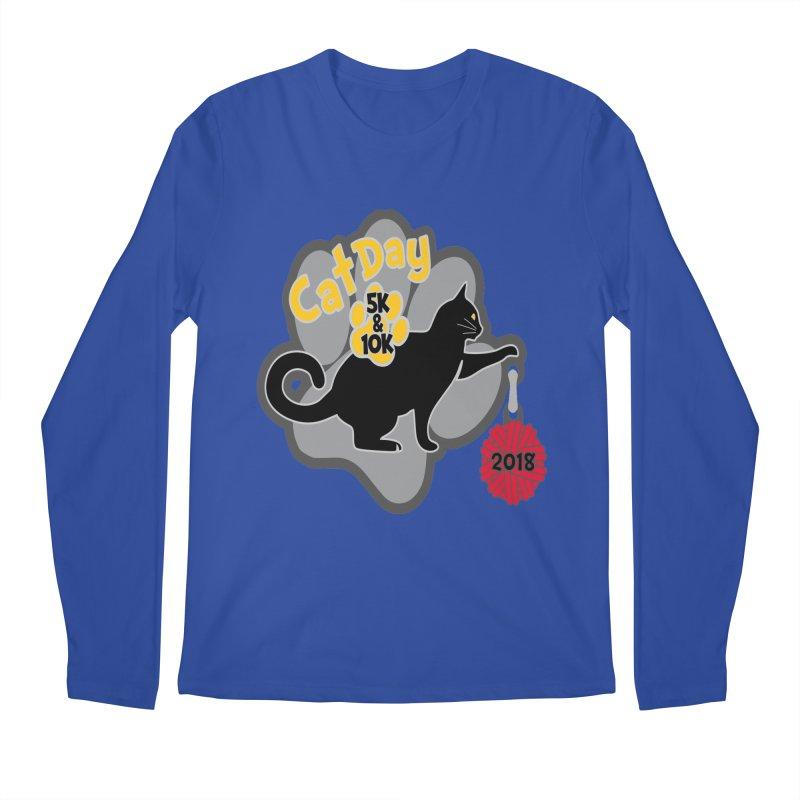 Cat Day 5K & 10K Men's Longsleeve T-Shirt by moonjoggers's Artist Shop