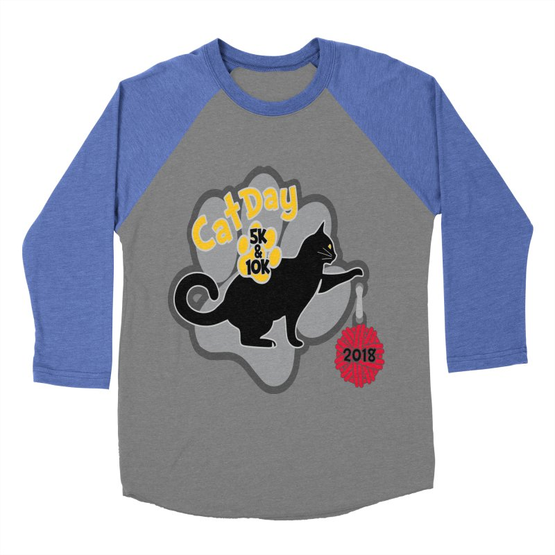 Cat Day 5K & 10K Men's Baseball Triblend T-Shirt by moonjoggers's Artist Shop