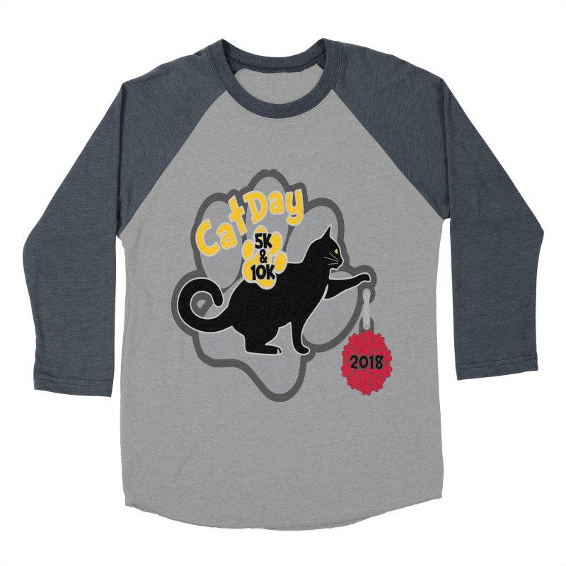 Cat Day 5K & 10K Men's Baseball Triblend Longsleeve T-Shirt by moonjoggers's Artist Shop