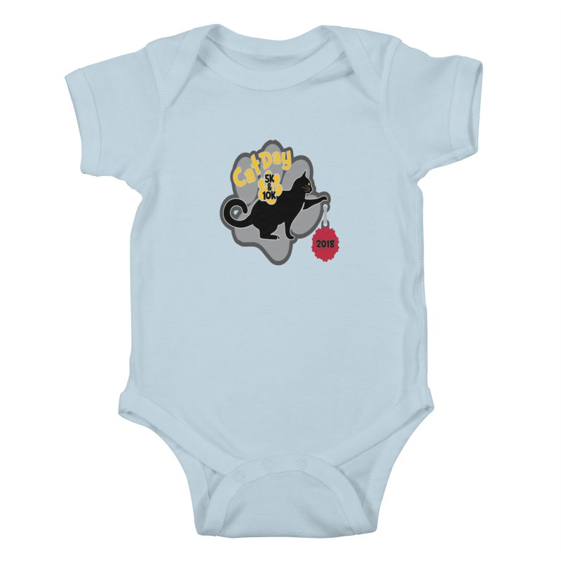 Cat Day 5K & 10K Kids Baby Bodysuit by moonjoggers's Artist Shop
