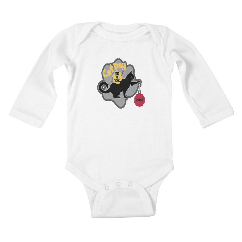 Cat Day 5K & 10K Kids Baby Longsleeve Bodysuit by moonjoggers's Artist Shop