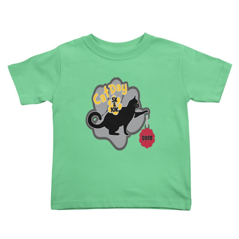 Cat Day 5K & 10K Kids Toddler T-Shirt by moonjoggers's Artist Shop