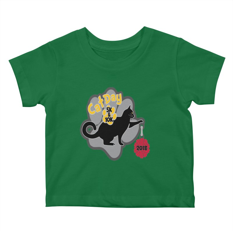 Cat Day 5K & 10K Kids Baby T-Shirt by moonjoggers's Artist Shop