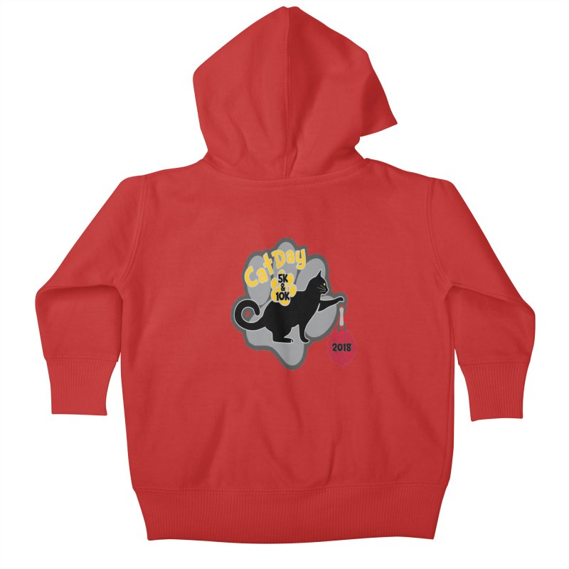 Cat Day 5K & 10K Kids Baby Zip-Up Hoody by moonjoggers's Artist Shop