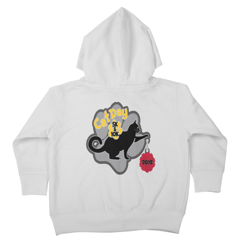 Cat Day 5K & 10K Kids Toddler Zip-Up Hoody by moonjoggers's Artist Shop
